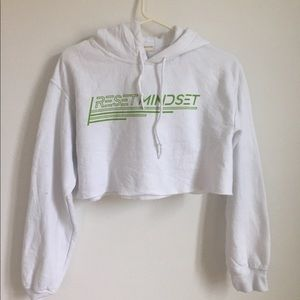 White urban outfitters cropped hoodie